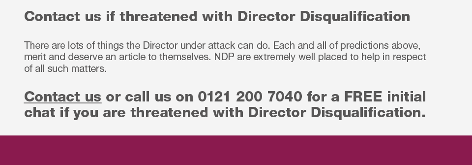 Director Disqualification solicitors